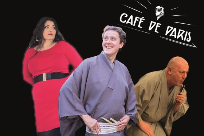 Affiche (détail) du« Kimono Show» au Café de Paris, le 7 septembre 2018.