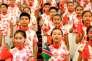 Des enfants chinois s'apprêtent à accueillir les dirigeants africains au septième forum triennal Chine-Afrique, à Pékin, le 3 septembre.