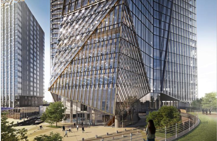 La tour du« starchitecte» comprendra80 000 m² de bureaux. A son pied, un parc de 1,3 hectare et une promenade plantée sur l'actuel boulevard circulaire. Livraison en 2022.
