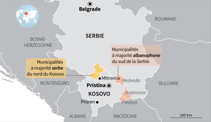Carte du Kosovo, Mitrovica