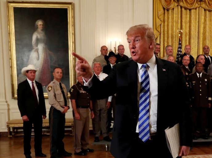 Donald Trump à la Maison Blanche, le 5 septembre.