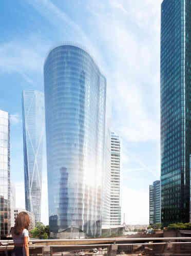 La tour de 38 étages, d'une superficie de 51 000 m², est construite sur le site de l'immeuble Saison, qui a été détruit. Livraison prévue en 2020.