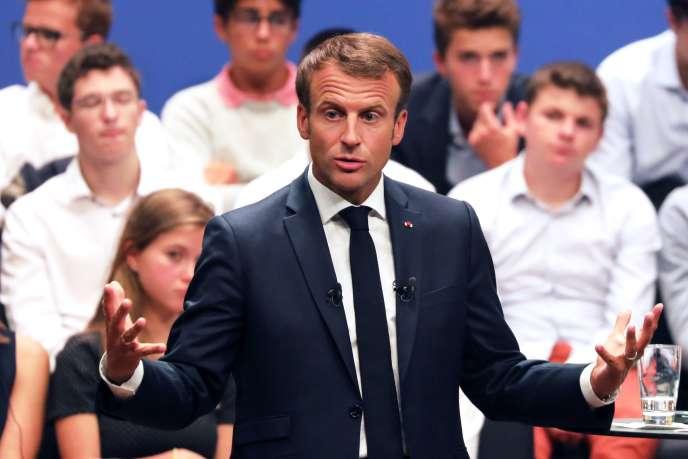 Emmanuel Macron, à Luxembourg, le 6 septembre.