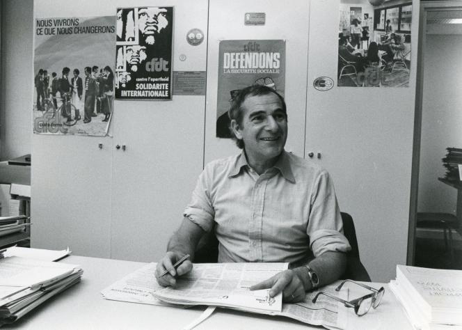 Robert Bono, ancien secrétaire national de la CFDT, en 1982.