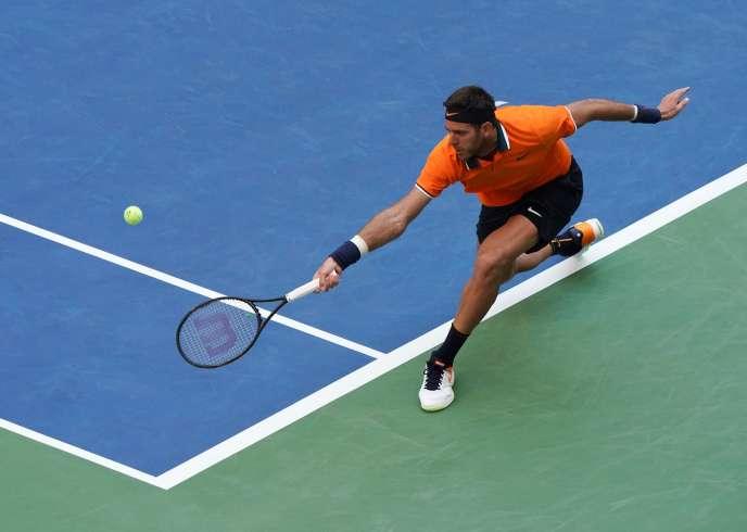 Juan Martin del Potro contre John Isner en quart de finale à l'US Open le 4 septembre.