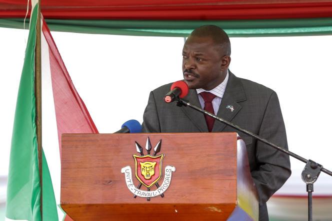 Le président burundais, Pierre Nkurunziza, à Bugendana, dans le centre du pays, le 7juin 2018.