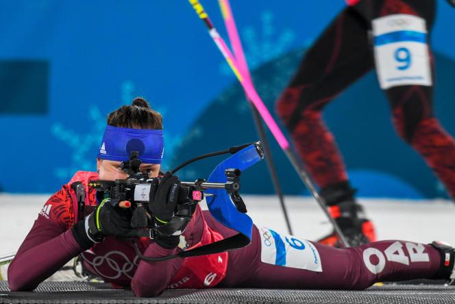 La Russe Uliana Kaisheva lors des Jeux olympiques 2018 à Pyeongchang.