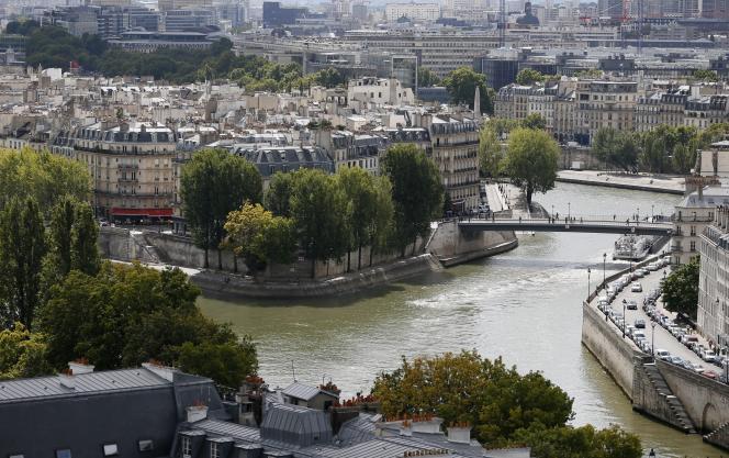 Vue de l'île Saint-Louis et de la Seine.