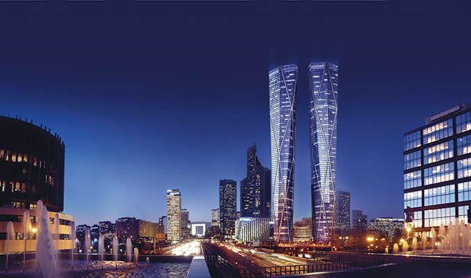 Ces deux mégatours constituées de bureaux, d'hôtels et d'espaces commerciaux, portées par un promoteur russe, ont fait l'objet de divers recours juridiques. Le financement n'est pas encore bouclé.