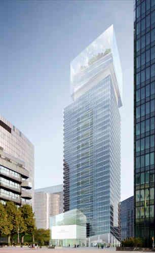 Cette tour seraentièrement occupée par la société de construction, qui y installera son siège mondial. Livraison en 2019.