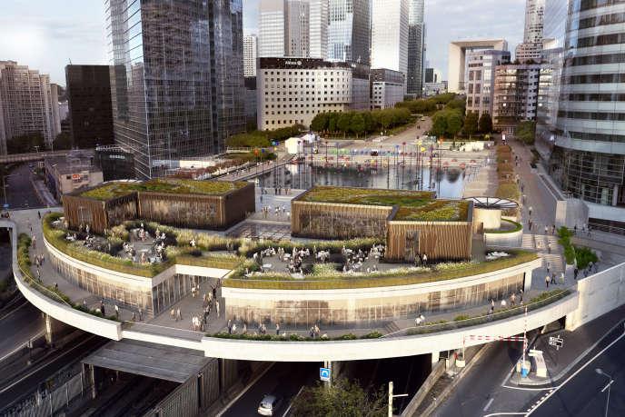 Oxygen, de Stéphane Malka Architecture, est un ensemble de restaurants bio et circuits courts, dans un espace situé sous la dalle.