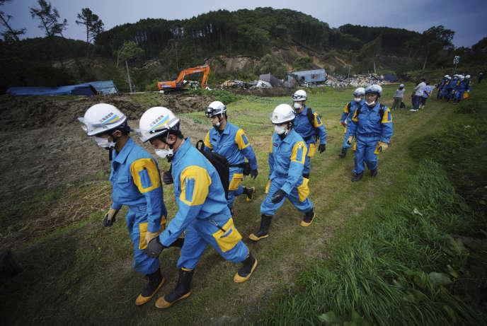 Les secours déployés dans la région d'Atsuma, le 7 septembre.