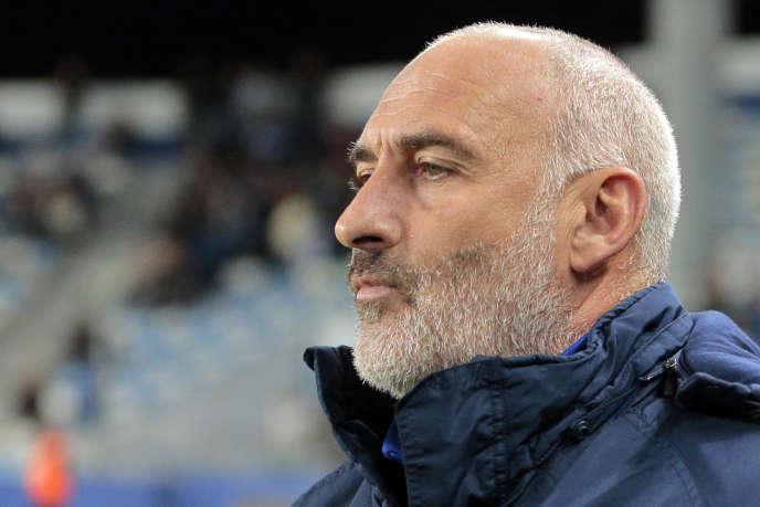 François Ciccolini, alors entraîneur de Bastia, en décembre 2016.