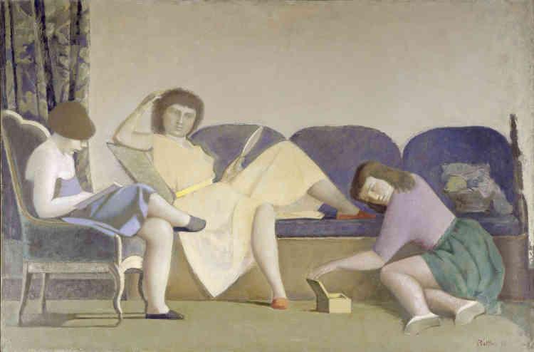«Ce tableau est le deuxième d'une série de cinq portraits de groupe, dans lesquels Balthus représente les trois sœurs Marie-Pierre, Béatrice et Sylvia Colle dans des ambiances similaires. Il s'agit des trois filles de son galeriste Pierre Colle, qui était alors déjà décédé.»