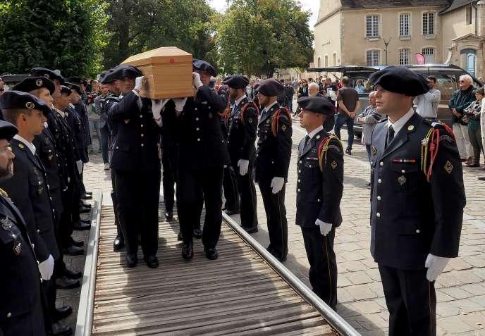 Lors des obsèques du caporal Noyer, vendredi 7 septembre.