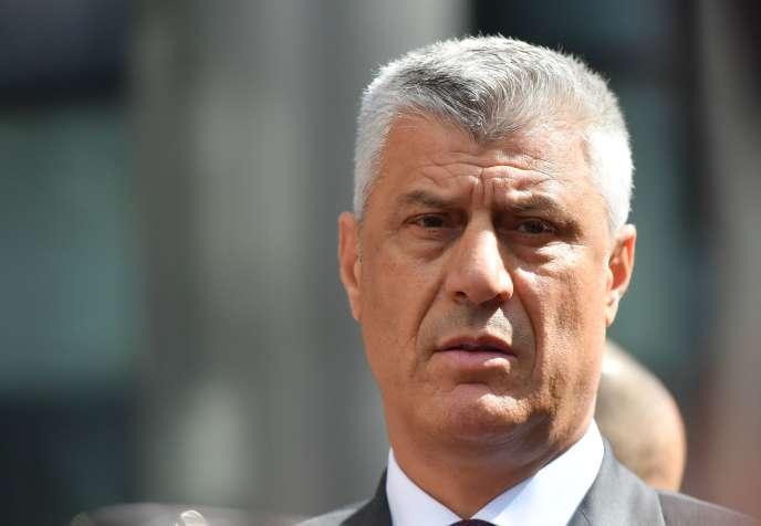 Hashim Thaci, le président du Kosovo, à Bruxelles, le 7 septembre.