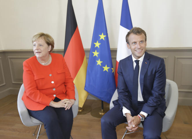 Angela Merkel et Emmanuel Macron, à Marseille, le 7 septembre.