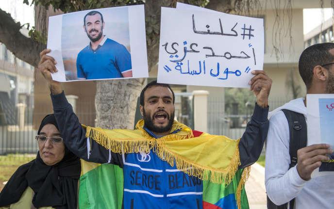 Manifestation en faveur de la libération de Nasser Zefzafi, à Casablanca, le 31 octobre 2017.