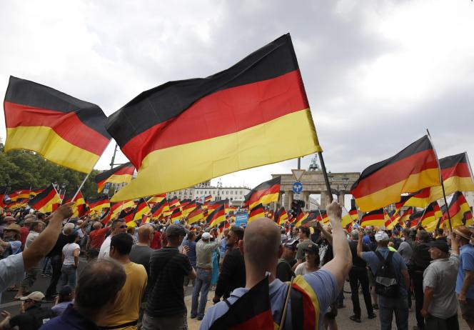 Une manifestation duparti d'extrême droite Alternative pour l'Allemagne, à Berlin, le 27 mai.