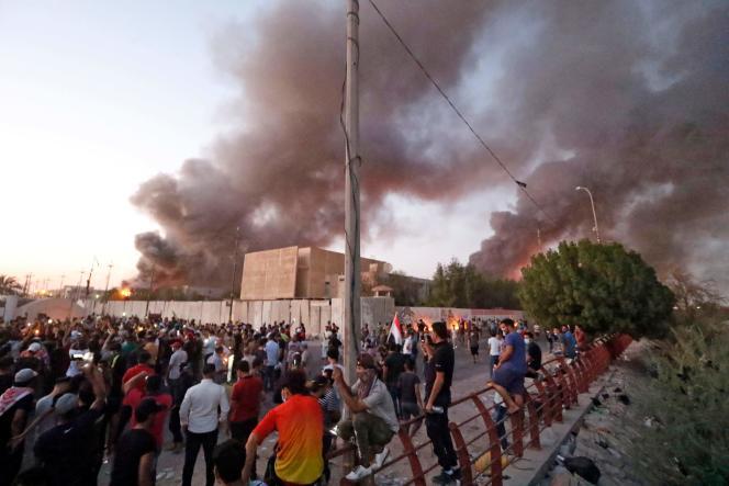 Manifestation à Bassora, en Irak, le 6 septembre.
