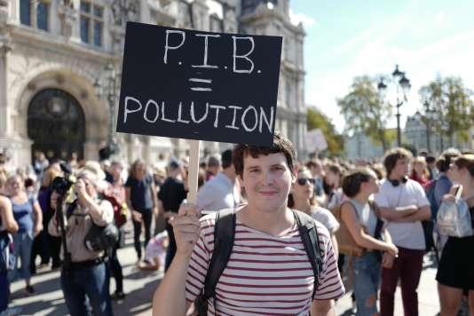 Pierre-Antoine, présent à la marche pour le climat du 8 septembre, estime que« c'est tout un modèle de société qu'il faut changer».