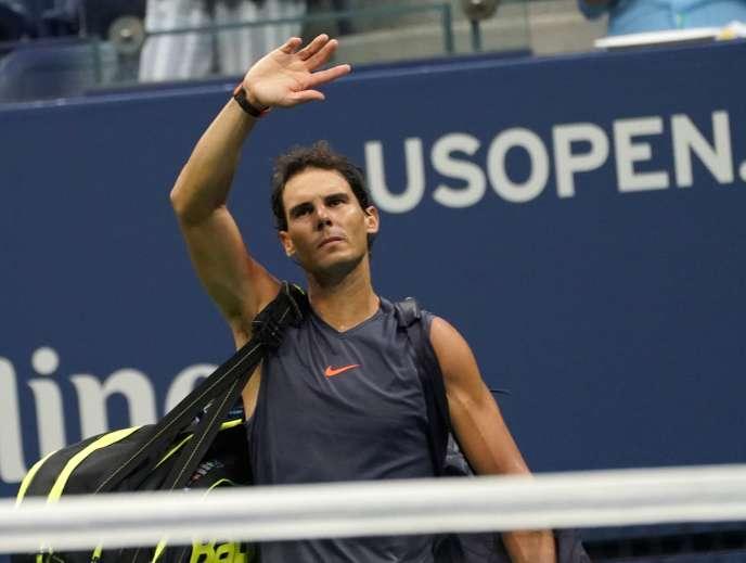 Rafael Nadal après son abandon à l'US Open, vendredi 7 septembre.