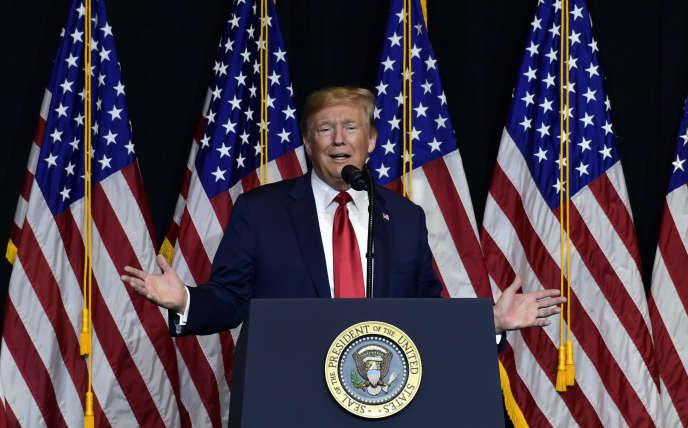 Donald Trump, le 7 septembre à Sioux Falls, dans le Dakota du sud.