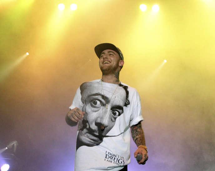 Mac Miller en concert au festival Pier de Philadelphie, en 2013.