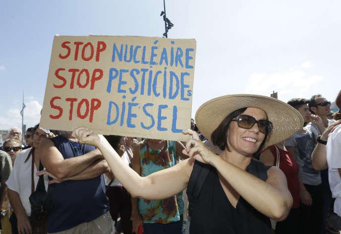 Lors d'une manifestation pour le climat, le 8 septembre à Marseille.