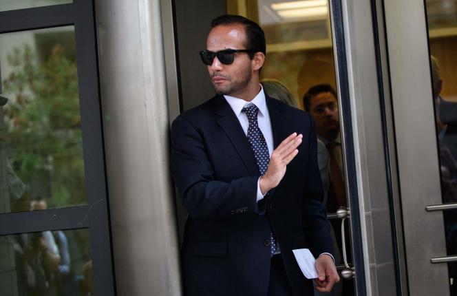 George Papadopoulos, le 7 septembre, après sa sentence à Washington.