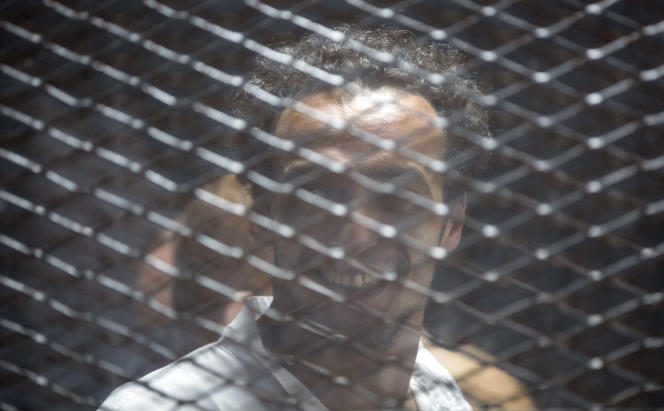 Mahmoud Abu Zaid, surnommé Shawkan à l'annonce de sa condamnation, samedi8 septembre.