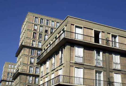 Immeubles du Havre, dont le centre-ville détruit par l'aviation britannique en 1944 a été reconstruit selon les plans de l'architecte Auguste Perret avec le béton armé comme principal matériau.