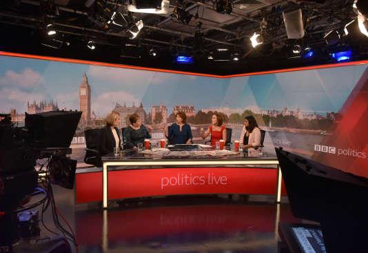 Lors de «Politics Live», première émission de la saison sur la BBC, lundi 3 septembre, avec six femmes en plateau.