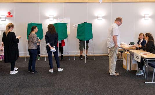 Bureau de vote à Malmö, dimanche 9 septembre.