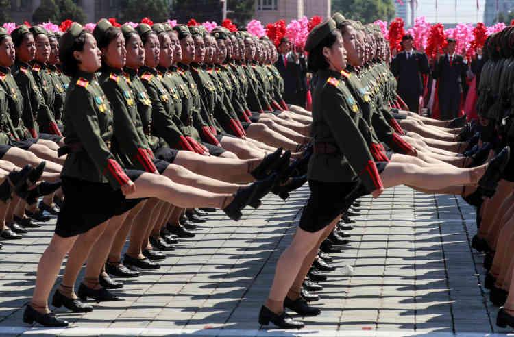 La parade militaire.