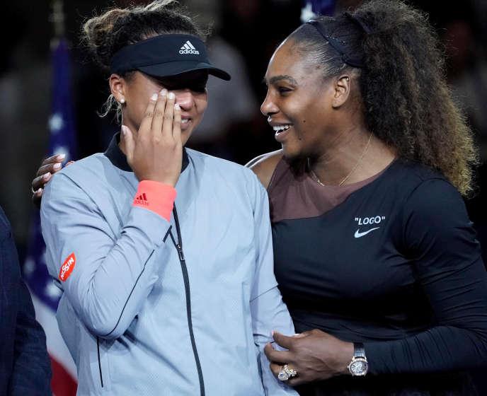 Serena Williams et Naomi Osaka, après la finale de l'US Open, le 8 septembre.