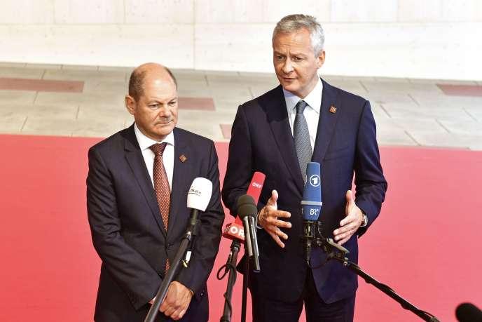Le ministre français de l'économie, Bruno Lemaire, et le ministre allemand de l'économie, Olaf Scholz, à Vienne (Autriche), le 8septembre.