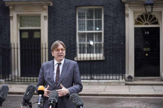 L'eurodéputé belge Guy Verhofstadt le 6 mars , à Londres.