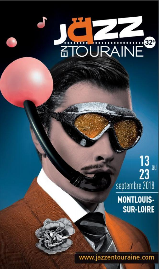 Affiche du festival Jazz en Touraine.