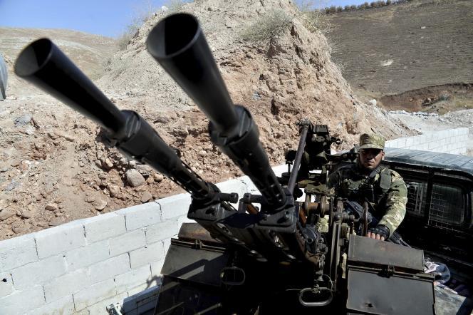 Des combattants de l'Armée syrienne libre dans la province d'Idlib.