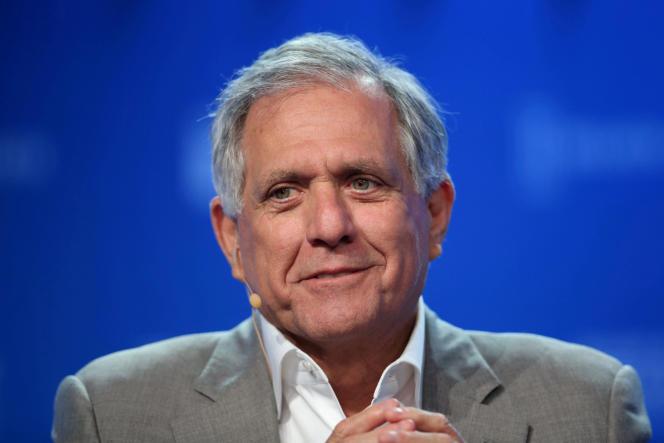 Leslie Moonves, président de CBS, lors d'une conférence à Beverly Hills (Californie), en2017.