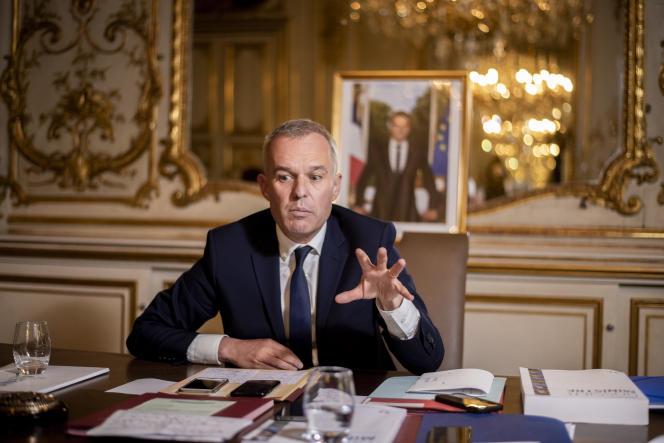 Francois de Rugy au ministère de la transition écologique et solidaire, le 7 septembre.