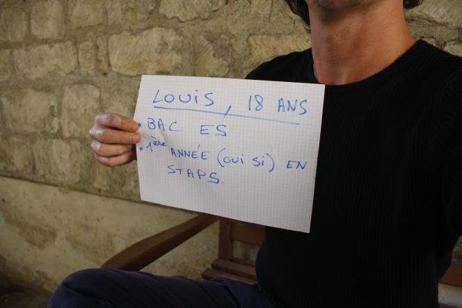 Louis, 18 ans, vient d'intégrer une licence de Staps, après un bac ES.