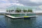 Une ferme flottante pouvant accueillir 40 vaches a été installée dans le port de Rotterdam.