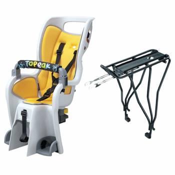 Une option à la fois abordable et sûre Le Topeak BabySeat II avec son porte-bagages BabySeat II (Disque)