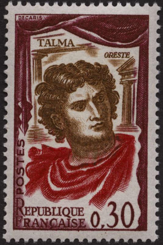 Talma, vu par Albert Decaris, timbre paru en 1961
