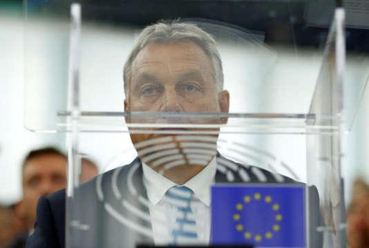Le premier ministre hongrois Viktor Orban, le 11 septembre à Strasbourg.