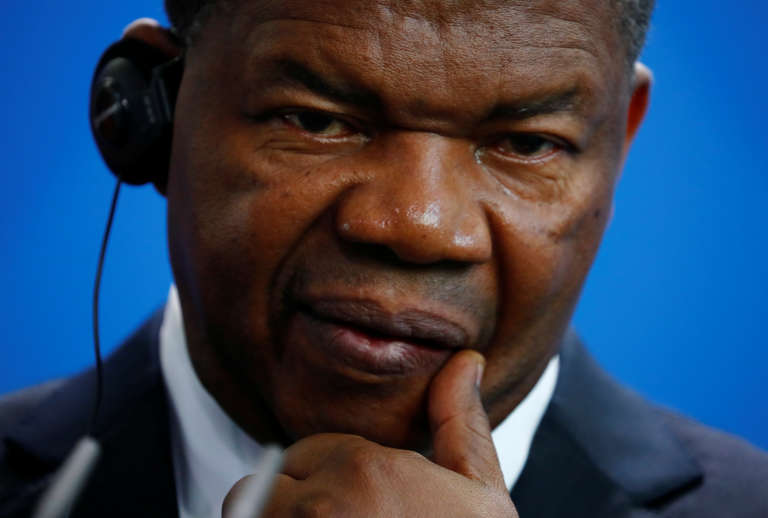 Le président angolais, Joao Lourenço, à Berlin, le 22août 2018.
