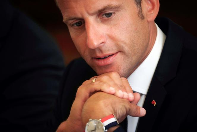 Emmanuel Macron, au palais de l'Elysée, le 11 septembre.
