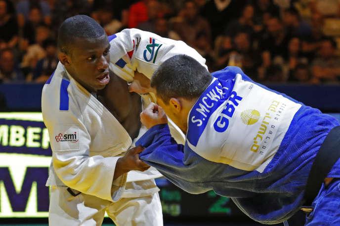 Alpha Djalo, ici à Tel-Aviv le 27 avril, est l'un des nouveaux visages de l'équipe de France masculine de judo.